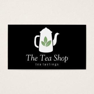 Tetera de la hoja de té el | tarjeta de negocios