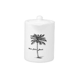Tetera Diseño blanco y negro de West Palm Beach y de la