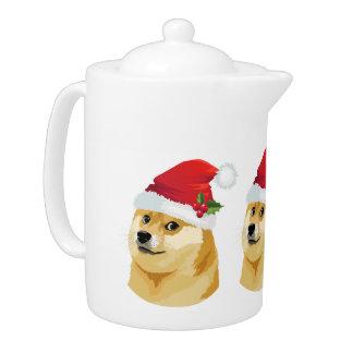 Tetera Dux del navidad - dux de santa - perro del navidad
