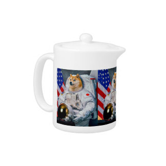 Tetera Dux perro-lindo del astronauta-dux-shibe-dux del