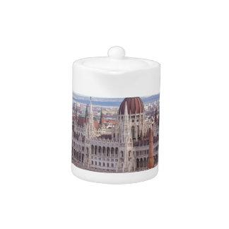 Tetera El parlamento húngaro Budapest por día