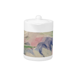 Tetera Floral en colores pastel