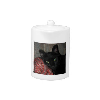 Tetera Gato negro de Halloween