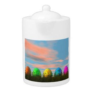 Tetera Huevos coloridos para pascua - 3D rinden