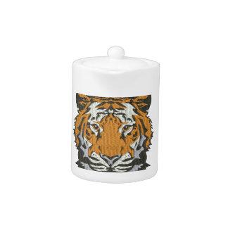 Tetera imitación del tigre del bordado