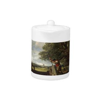 Tetera John Constable - la cerradura - paisaje del campo