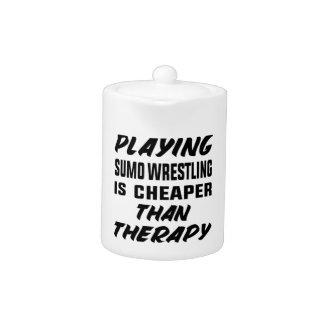 Tetera Jugar la lucha de sumo es más barato que terapia