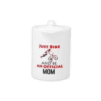 Tetera mamá de la motocicleta