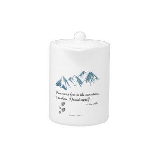 Tetera Me nunca pierden en las montañas, él soy donde…