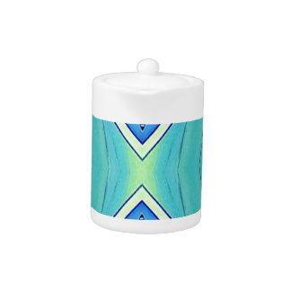 Tetera Modelo geométrico artístico en colores pastel
