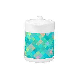 Tetera Modelo multicolor del arte del pixel