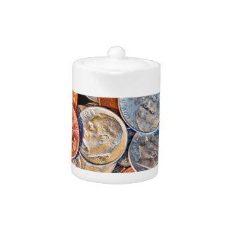 Tetera Moneda acuñada