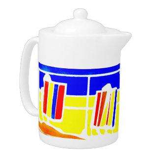 """Tetera Pote del té de la playa de la """"promenade"""" de"""