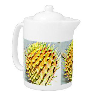 Tetera Pote del té del cactus de la paleta del higo
