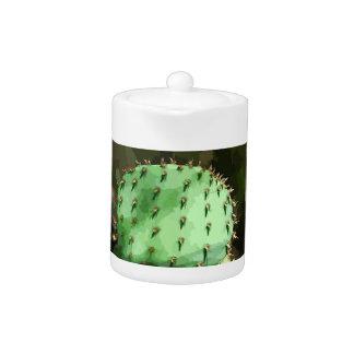 Tetera Pote del té del cactus del higo chumbo