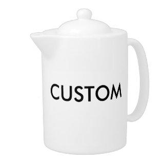 Tetera Pote grande del té 44oz de la porcelana blanca de