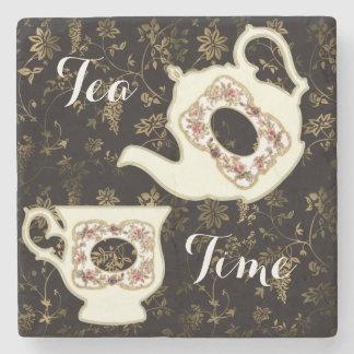 Tetera y taza de té del Victorian en diseño Posavasos De Piedra