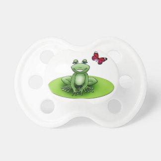 Tetina blanca con Froggy la rana Chupete