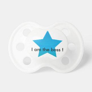 ¡Tetina personalizada - I am the jefe! Chupetes Para Bebés