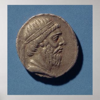 Tetracrachm de Mithradates I Impresiones