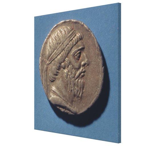 Tetracrachm de Mithradates I Impresiones En Lona Estiradas