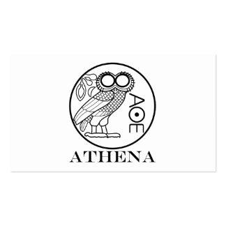 Tetradrachm del búho de Athena (fuente de los Tarjetas De Visita