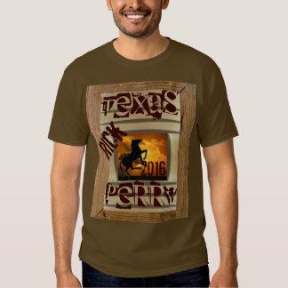 Texan 2016 de Rick Perry Camisetas
