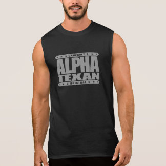 TEXAN ALFA - orgullo solitario conservador de la Camisetas Sin Mangas