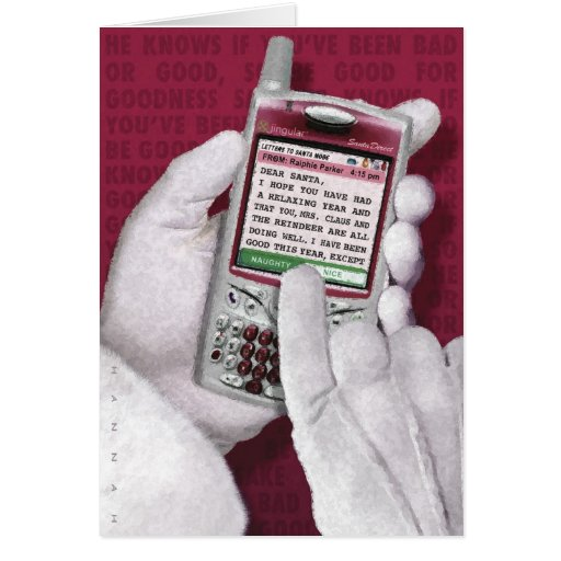 Texting Santa Felicitación