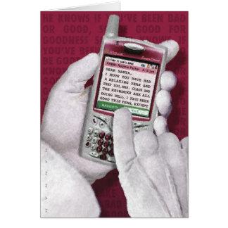 Texting Santa Tarjeta De Felicitación