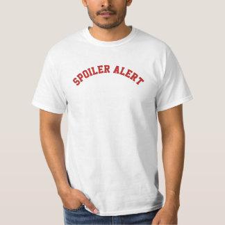 Texto alerta del alerón DIY+fuente+color Camiseta