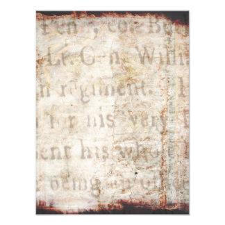 Texto antiguo de los 1700s del vintage en el papel fotografía