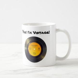 Texto-Canción del personalizado del vintage del Taza De Café