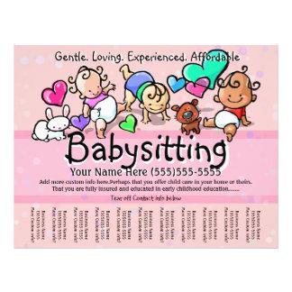 Texto/color de Babysitting.Childcare.Day Folleto 21,6 X 28 Cm