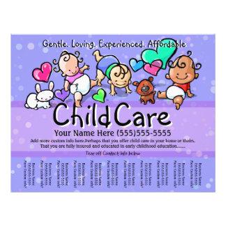 Texto/color de Childcare.Babysitting.Day Folleto 21,6 X 28 Cm