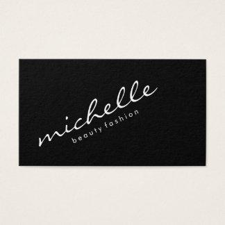 Texto cursivo minimalista tarjeta de negocios
