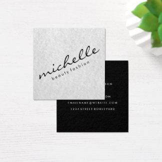 Texto cursivo minimalista tarjeta de visita cuadrada