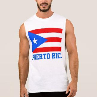 Texto de la bandera del mundo de Puerto Rico Camiseta