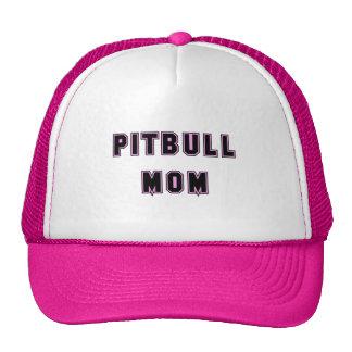 Texto de la mamá de Pitbull - rosa Gorros Bordados