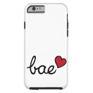 Texto del amor del bebé de Bae y corazón rojo Funda Resistente iPhone 6