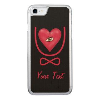 Texto del corazón U del ojo Funda Para iPhone 7 De Carved