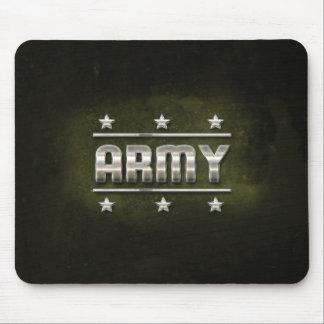Texto del ejército del metal alfombrillas de ratones