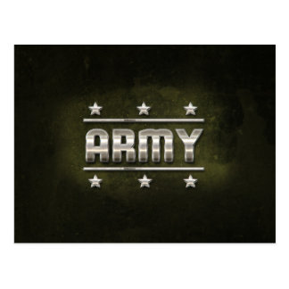 Texto del ejército del metal tarjetas postales