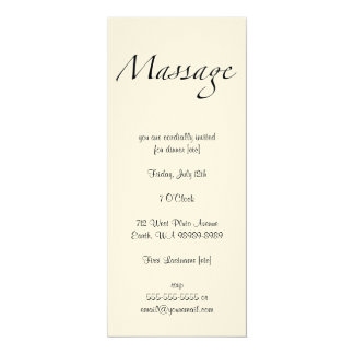 Texto del masaje invitación 10,1 x 23,5 cm