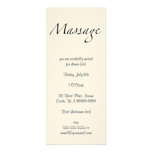 Texto del masaje invitacion personal