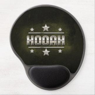 Texto del metal Hooah Alfombrilla Gel