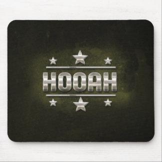 Texto del metal Hooah Alfombrilla De Ratón