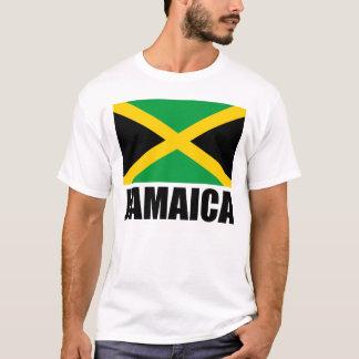 Texto del negro de la bandera de Jamaica Camiseta