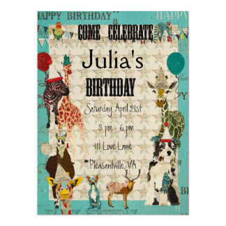 Texto del negro de la invitación del cumpleaños de invitación 16,5 x 22,2 cm