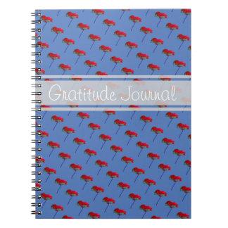 Texto del personalizable de la flor de la amapola cuaderno